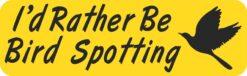 Id Rather Be Bird Spotting Vinyl Sticker