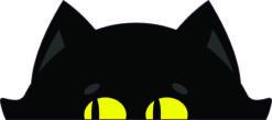 Peeking Cat Vinyl Sticker