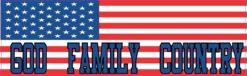 God Family Country USA Flag Magnet