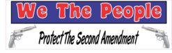 Protect The Second Amendment Vinyl Sticker