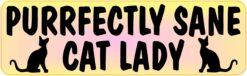 Yellow Gradient Purrfectly Sane Cat Lady Vinyl Sticker