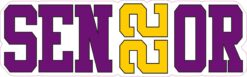 Purple and Yellow Senior 2022 Vinyl Sticker