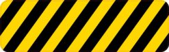 Caution Stripes Vinyl Sticker