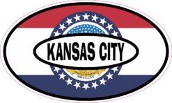 Missouri Flag Oval Kansas City Vinyl Sticker