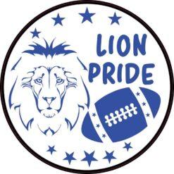Blue Football Lion Pride Vinyl Sticker
