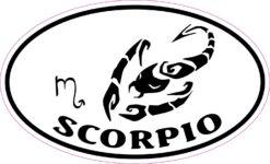 Oval Scorpio Vinyl Sticker