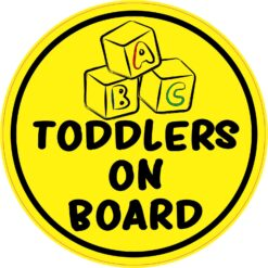 Toddlers on Board Vinyl Sticker