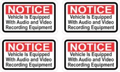 Vehicle Equipped with Recording Equipment Vinyl Stickers