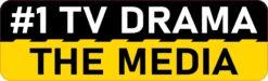 Number 1 TV Drama the Media Vinyl Sticker
