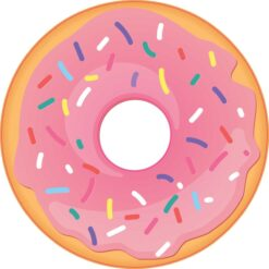 Pink Sprinkle Donut Vinyl Sticker