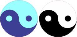 Yin Yang Vinyl Stickers