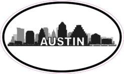 Skyline Oval Austin Texas Vinyl Sticker