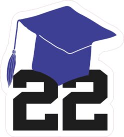 Grad Hat Senior 22 Vinyl Sticker