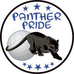 Blue Volleyball Panther Pride Vinyl Sticker
