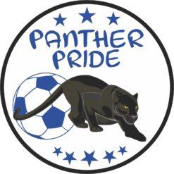Blue Soccer Panther Pride Vinyl Sticker