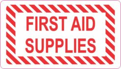 Red First Aid Supplies Vinyl Sticker