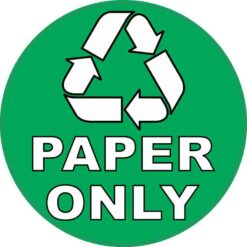 Plastic Only Recycling Vinyl Sticker