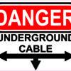 Left Right Below Underground Cable Vinyl Sticker