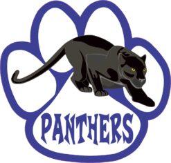 Blue Paw Panthers Vinyl Sticker