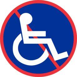 No Wheelchair Access Symbol Vinyl Sticker