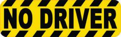 No Driver Vinyl Sticker