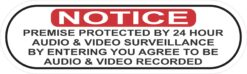 Oblong Protected by Audio and Video Surveillance Vinyl Sticker