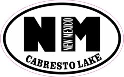 Oval Cabresto Lake NM Vinyl Sticker
