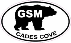 Bear Oval GSM Cades Cove Vinyl Sticker