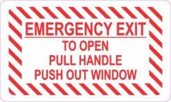Emergency Exit Window Vinyl Sticker