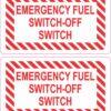 Emergency Fuel Switch-Off Switch Vinyl Stickers