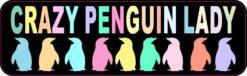 Crazy Penguin Lady Vinyl Sticker