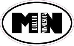 Oval MN Duluth Minnesota Vinyl Sticker